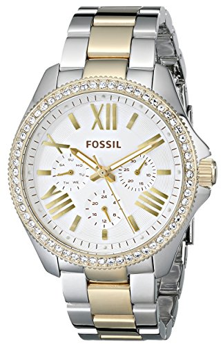 Fossil AM4543 Cecile Two-Tone Stainless Steel Bracelet Women's Watch