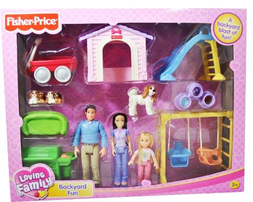 Loving Family Dollhouse Play Doll Accessory Set Backyard