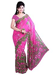 RockChin Fashions Multicolor Printed Georgette Saree
