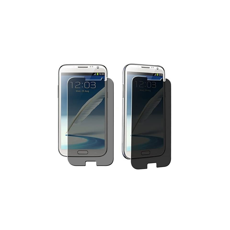 Importer520 Anti Spy Privacy LCD Screen Cover Guard for Samsung Galaxy Note II Note 2 N7100 Verizon