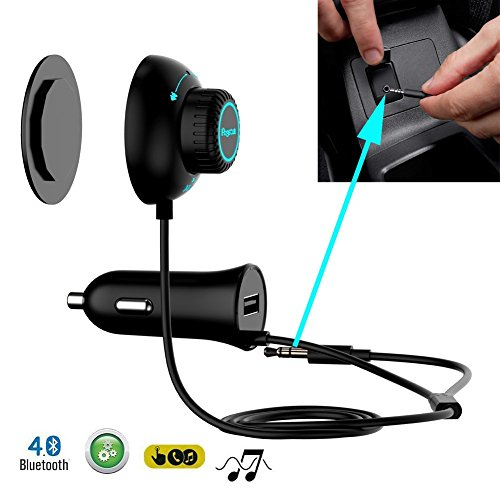 Regetek Bluetooth Car Kit Bundle with Audio Receiver, Adapter and Charger (Auto Bluetooth Kit compare prices)
