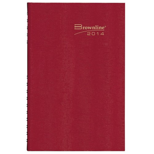 Brownline 2014 CoilPro Daily Appointment Book, Red, 10 x 7.875 Inches, Hard Cover with Twin-Wire Binding (C550C.Red)
