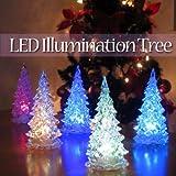 レインボーイルミネーション ミニクリスマスツリーLEDライト お得な3個セット
