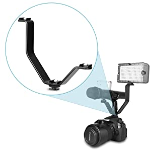 SH V-Shape3universal hot Shoe Adapter, Camera Photography Accessories, Can be Used for Flash, Microphone, Camera, LED Video Light (Tamaño: SH033)