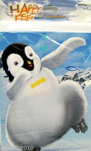 Happy Feet Invitations w/ Envelopes (8ct)