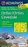 Ortler /Ortles - Cevedale: Wanderkarte mit Aktiv Guide, Panorama, Rad- und alpinen Skirouten. GPS-genau. 1:50000. (KOMPASS-Wanderkarten)
