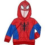 Superhero Little Boys' Zip-Up Fleece Hoodie With Mesh Mask, 4T, Spiderman