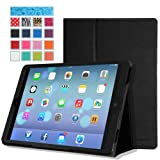 MoKo Apple iPad Air Case - Slim Folding Case for Apple iPad 5 Air (5th Gen) Tablet, BLACK (With Smart Cover Auto Wake / Sleep)