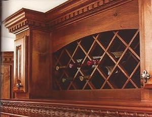 "One Pair- (Two Pieces)- Alder Wood- 36"" x 48"" Wine Lattice Rack with Bevel."