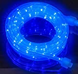 16FT Blue LED Rope Light Kit For Indoor / Outdoor Lighting, Home, Garden, Patio, Shop Windows, Christmas, New Year, Wedding, Party, Event