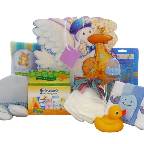 Stork Baby Gift Baskets Reviews : Baby gift basket art of appreciation baskets look