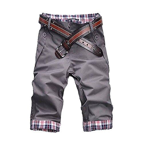 Jeansian Estate Tendenze Moda Uomo Sport Casuale Slim Fit Pantaloncini Calzoncini Corti Shorts S100 IronGray W28