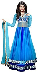 Maxthon Fashion Women's Skyblue Dhupiyan Embroidery & Hand Made Unstitched Free Size XXL Lehenga Choli (Women's Indian Clothing Lehnga Choli 4053 )