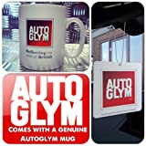 Autoglym Car & Home Hanging Fresh Scented Odor Eliminating Air Freshener + Genuine Mug Cup (Gift Set Kit Idea)