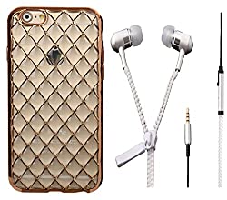 Novo Style Bubble Glow Shine Soft Silicone Back Case Cover ForApple iPhone 5 & 5S+ Zipper Earphones/Hands free With Mic 3.5mm jack
