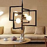 Aiwen Plafond Fer Forgé Lustre Light Lampe(Bulbs not Included)Noir(4 supports de lampe)...