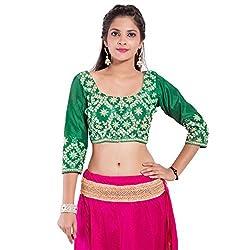 TAM CREATIO Women's Wedding Wear Attractive Silk Cotton Blouse Fabric