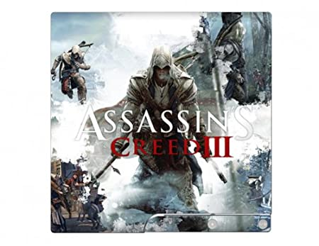 Assassin's Creed III 3 PS3 Slim Limited Edition Game Skin for Sony Playstation 3 Slim Console