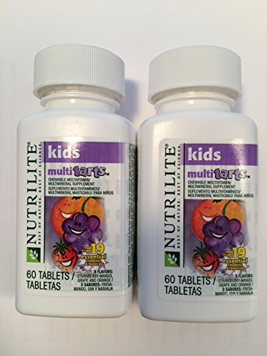 Amway Nutrilite Kids Multitarts Chewable Multivitin, 60 Tablets, Pack of 2 (Nutrilite Amway Vitamin compare prices)