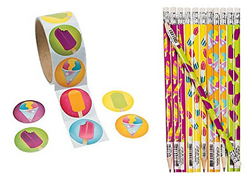 Sweet Treats Pencils and Stickers Set (124 Pieces)