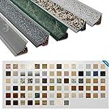 250cm Küchenabschlussleiste Küchenleiste Wandabschlussleiste Abschlussleiste UPS Küchen Arbeitsplatten 23 x 23mm LB23-231-0-610! ALUMINIUM SILBER