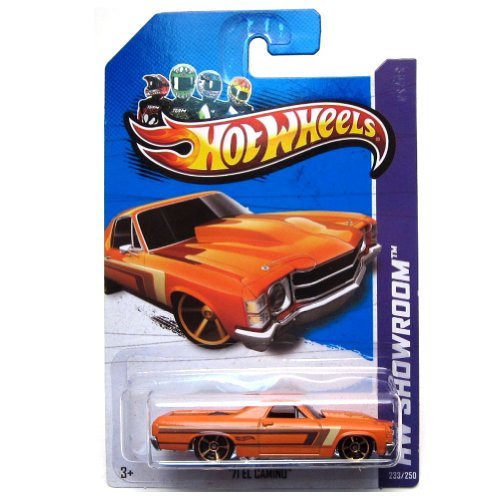 Hot Wheels 2013-233 HW Showroom '71 El Camino ORANGE 1:64 Scale - 1