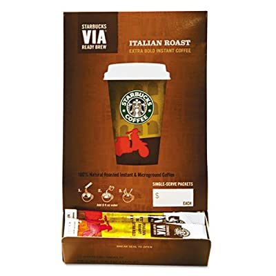 Starbucks® - VIA Ready Brew Coffee, 3/25 oz, Italian Roast, 50/Box - Sold As 1 Box - Rich, full-body flavor in an instant coffee. by Starbucks Coffee Company Products