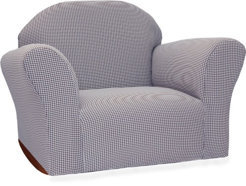 Fantasy Furniture Roundy Rocking Chair Gingham, Navy