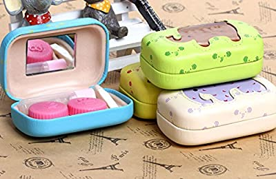1 Pcs Cute Elephant Contact Lenses Box Cases/Holders, Random Color