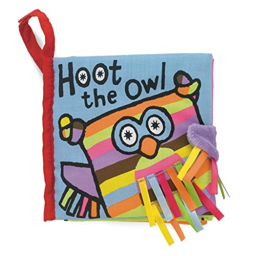 Jellycat® Soft Books, Hoot Owl front-788326