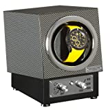 Watch Winder by Alexander James of London Single Automatic Watch Rotator for All Automatic Watches including Breitling, Omega, Tag, Cartier, Hublot, Rolex etc