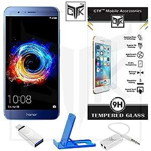 Honor 8 Pro Tempered Glass + OTG Adapter + Mobile Stand + Audio Splitter - TheGiftKart Super Value Combo