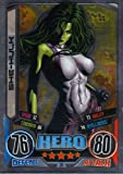 Marvel Hero Attax Series 2 The Avengers Mirror Foil Card 30 She-Hulk