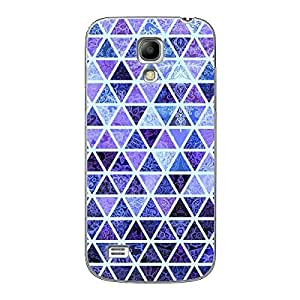 EYP Blue triangles Pattern Back Cover Case for Samsung S4