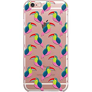 Dailyobjects Pink Toucan Clear Case For iPhone 6S