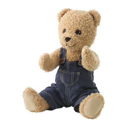 Ikea Brumma Soft Toy with Clothes, Bear - 1 Ea - 1