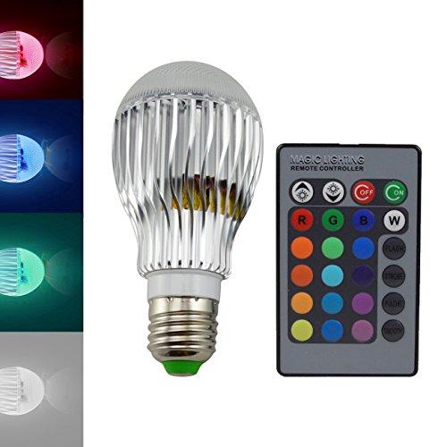 LOHAS® A19 RGB 9W E27 RGB LED Light Changing Lamp Bulb,Globe Ball Shape,16 Color Choice Remote Controller