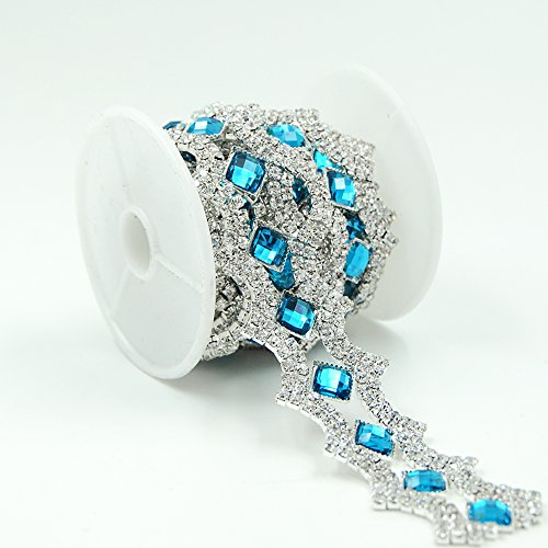 Cheapest Prices! Seasofbeauty Blue Zircon Resin Clear Glass Rhinestone Sewing Costume Wedding Silver...