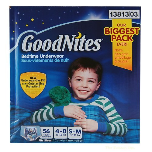 Goodnites Boys Underwear 56 Count, Small/medium - 1