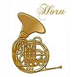 彩蒔絵本舗 Musical Instruments Puremium Makie Sticker ホルン