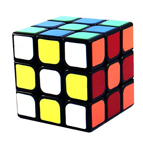 3x3x3 YJ GuanLong Black Speed Puzzle Cube Twisty Toy Smooth NEW 3x3