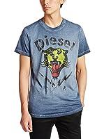 Diesel Camiseta Manga Corta T-Sons (Azul Lavado)
