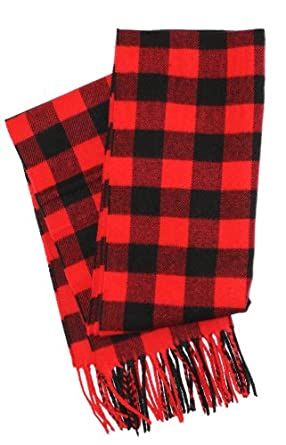 Route 66 Supply Company Men's Buffalo Plaid Scarf in Red