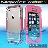 iPhone SE Waterproof Case, iPhone SE Case,iPhone 5S Case,Jamesay Shockproof Dust Proof Snow Proof IP-68 Underwater Full Body Heavy Duty Protective Cover For Apple iPhone SE/5S/5(Pink)
