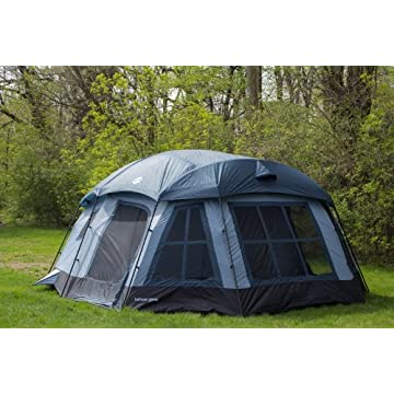 Tahoe Gear Ozark 3-Season 16 Person Large Family Cabin Tent (Black/Gray)