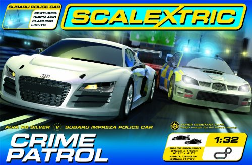 Scalextric C1282 Crime Patrol 1:32 Scale Race Set