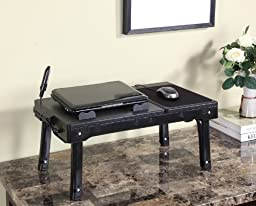Black Laptop Table Stand with Adjustable Legs