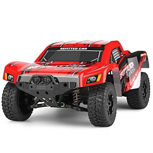 Smartlife Remote Control RC Car 1: 12 Scale 4 Channels High Speed Rechargeable Short Trunck RC Vehicles Rock Crawler Toy Off-road Racing Car Monster Truck (Grasshopper Remote Control Car compare prices)