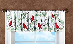 Holiday Cardinal Window Valance by Collections Etc
