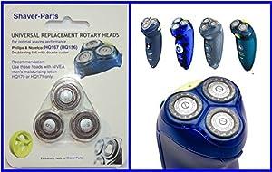 Cabezales para afeitadora, nueva HQ167 (o HQ156), convenientes (ajustes) para Philips / afeitadoras Norelco   Más información y revisión del cliente